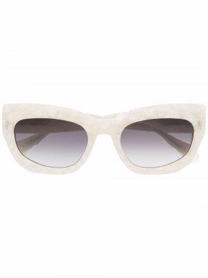 Солнцезащитные очки Bella в квадратной оправе GIGI STUDIOS. Цвет: нейтральные цвета