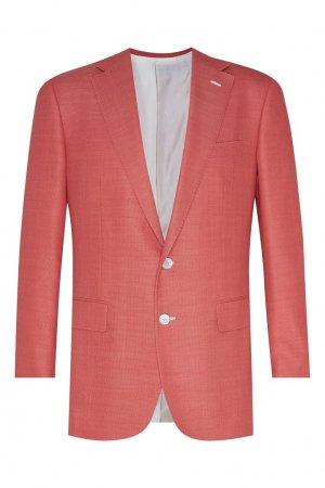 Пиджак кораллового оттенка Stefano Ricci. Цвет: розовый
