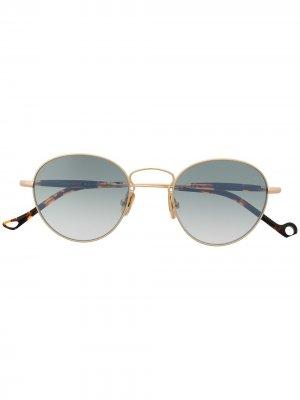 Солнцезащитные очки в круглой оправе Eyepetizer. Цвет: золотистый