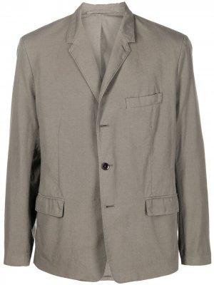 Однобортный пиджак Lemaire. Цвет: серый