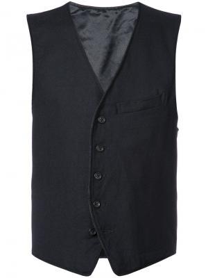 Жилетка на пуговицах Engineered Garments. Цвет: синий