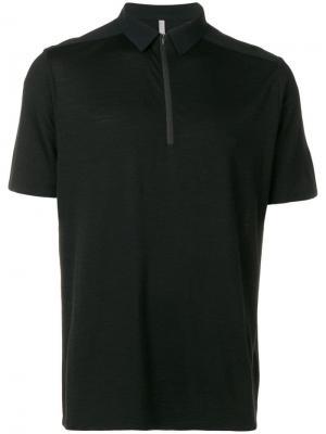 Рубашка-поло на молнии Arc'teryx. Цвет: черный