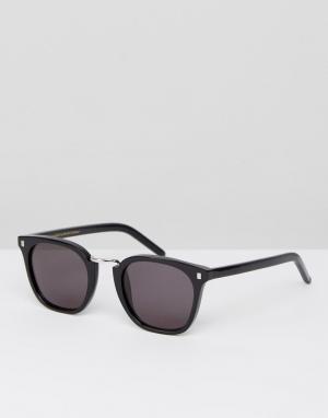 Черные квадратные солнцезащитные очки Ando-Черный Monokel Eyewear