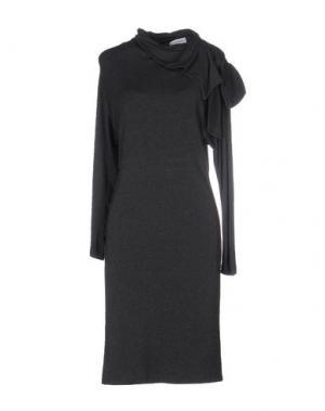 Короткое платье ANNA RACHELE. Цвет: свинцово-серый