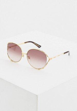 Очки солнцезащитные Gucci GG0595S 004. Цвет: коричневый