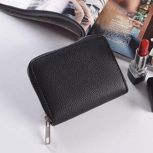 Мужской Маленький кошелек минималистичный SHEIN. Цвет: чёрный