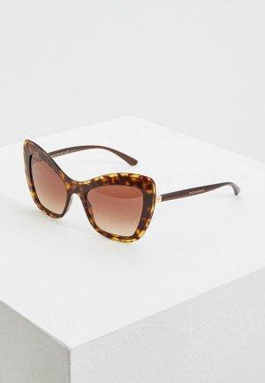 Очки солнцезащитные Dolce&Gabbana DG4364 502/13. Цвет: коричневый