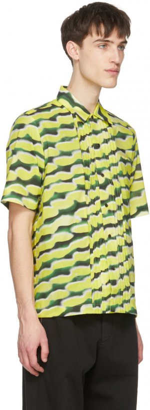 Yellow Len Lye Edition Camillo Short Sleeve Shirt Dries Van Noten. Цвет: 202 yellow