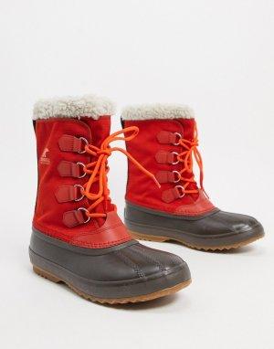 Красные нейлоновые зимние ботинки -Красный Sorel