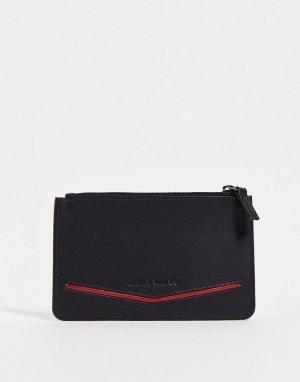 Черный кошелек для мелочи Fir-Черный цвет Valentino Bags
