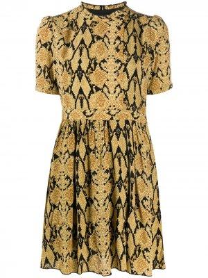 Короткое платье Cascade с принтом Ba&Sh. Цвет: нейтральные цвета