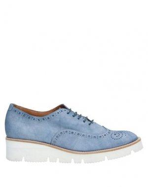 Обувь на шнурках GUGLIELMO ROTTA. Цвет: грифельно-синий