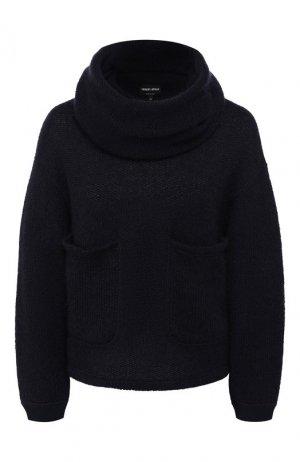 Комплект из пуловера и шарфа Giorgio Armani. Цвет: темно-синий