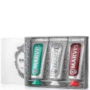 Набор из трех туб зубной пасты Travel Flavour Toothpaste Trio 3 x 25 мл Marvis