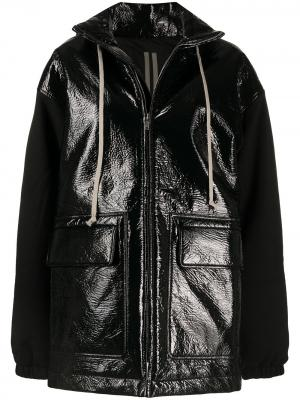 Куртка на молнии с капюшоном Rick Owens DRKSHDW. Цвет: черный