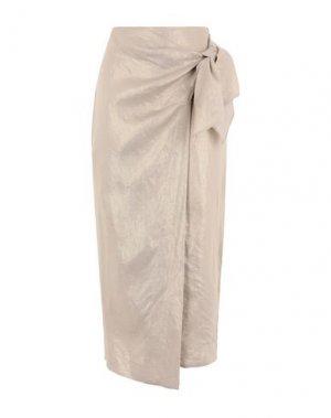Длинная юбка DONNA KARAN. Цвет: песочный