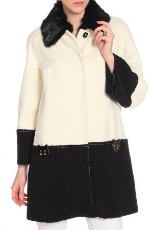 Пальто 22MAGGIO. Цвет: белый, черный