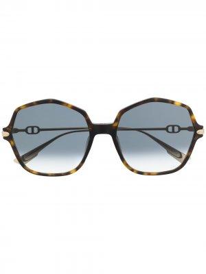 Солнцезащитные очки DiorLink2 черепаховой расцветки Dior Eyewear. Цвет: золотистый