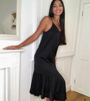 Черное платье-майка миди с баской -Черный Vero Moda Tall