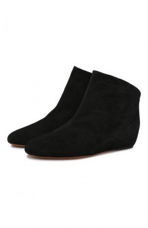 Замшевые ботинки Alaia. Цвет: черный