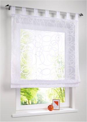 Римская штора с рисунком bonprix. Цвет: белый