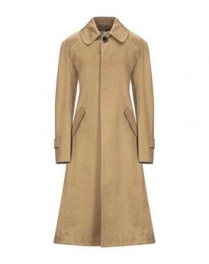 Легкое пальто LANVIN. Цвет: хаки