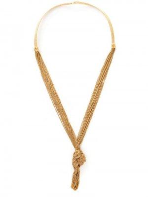 Ожерелье Miki Dora с декоративным узлом Aurelie Bidermann. Цвет: золотистый