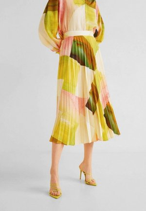 Юбка Mango - NINFA-I. Цвет: желтый