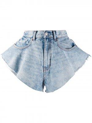 Джинсовые шорты широкого кроя Alexander Wang. Цвет: синий