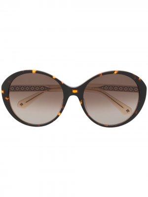 Солнцезащитные очки Odetta в массивной оправе Kate Spade. Цвет: коричневый