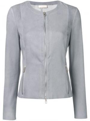 Приталенная кожаная куртка Drome