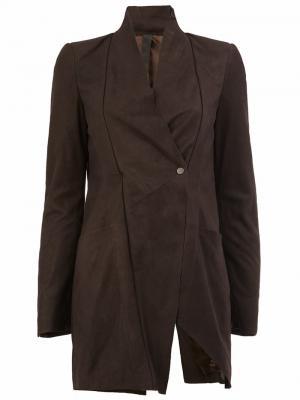 Однобортное пальто Ilaria Nistri. Цвет: коричневый