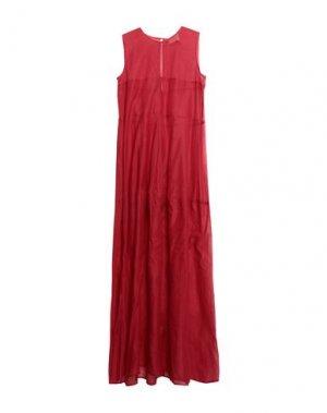 Длинное платье ON THE ISLAND by MARIO SCHWAB. Цвет: красный