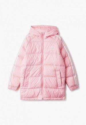 Пуховик adidas Originals DOWN JACKET. Цвет: розовый