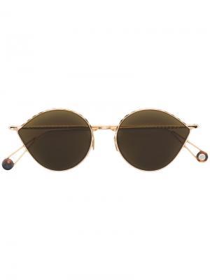 Круглые солнцезащитные очки с затемненными линзами Ahlem. Цвет: золотистый