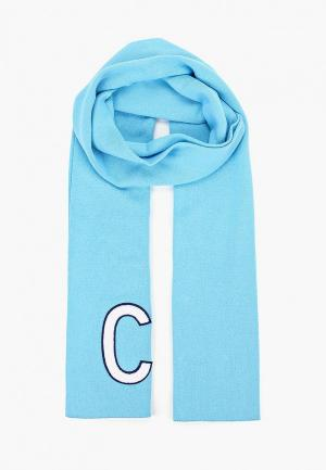 Шарф Calvin Klein Jeans. Цвет: голубой