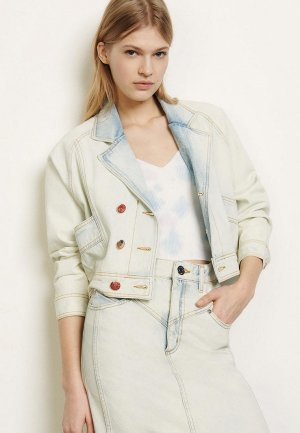Куртка джинсовая Sandro. Цвет: бежевый