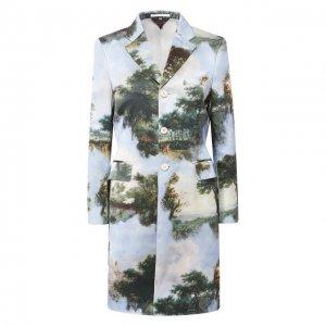 Пальто из смеси хлопка и шелка Comme des Garcons. Цвет: разноцветный