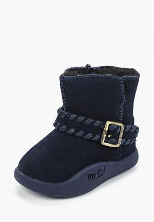 Ботинки для танцев Капитошка. Цвет: синий
