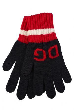 Контрастные перчатки Dolce&Gabbana Children. Цвет: синий