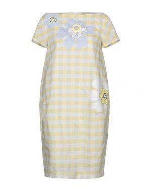Короткое платье ATINSIGHT by ANDREA TURCHI. Цвет: светло-желтый