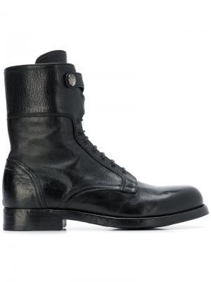 Ботинки на шнуровке Alberto Fasciani. Цвет: черный