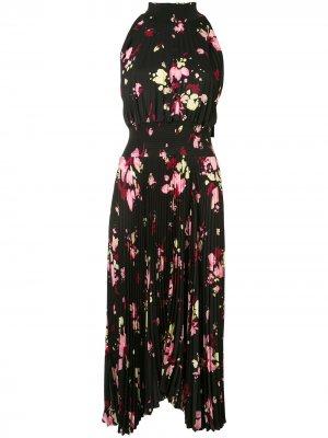 Плиссированное платье Renzo A.L.C.. Цвет: черный