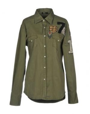 Pубашка EX-J. Цвет: зеленый-милитари
