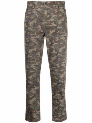 Укороченные брюки с камуфляжным принтом Current/Elliott. Цвет: коричневый
