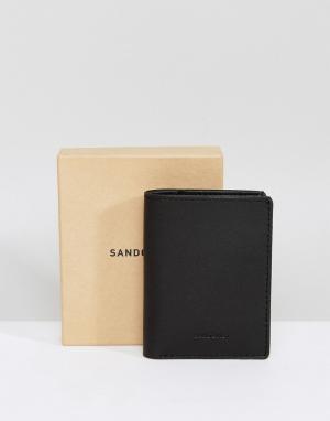 Черный бумажник Dow Sandqvist. Цвет: черный