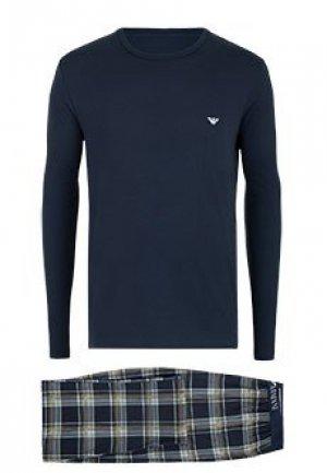 Пижама EMPORIO ARMANI. Цвет: синий