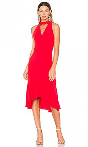 Платье valentina Amanda Uprichard. Цвет: красный