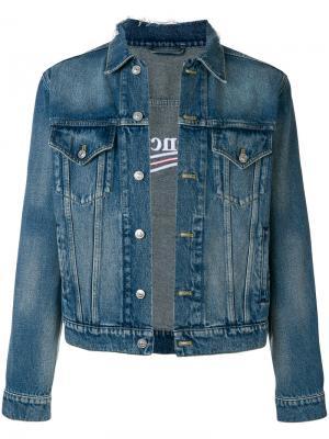 Классическая джинсовая куртка Balenciaga. Цвет: синий