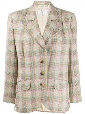Клетчатый пиджак 1980-х годов Valentino Pre-Owned. Цвет: нейтральные цвета